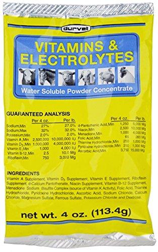 Durvet Vitamins & Electrolytes Conc, 4 oz (113.4g) (The Best Gamefowl Farm)