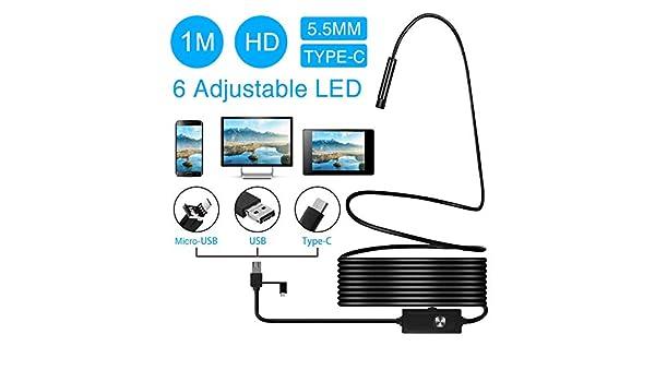 KANGLE 3 en 1 USB endoscopio cámara 2 Millones HD píxeles alcantarillado Drenaje de la Serpiente cámara de Seguridad HD endoscópica Tubo localizador USB ...