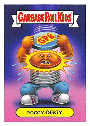 2019 Topps Garbage Pail Kids We Hate the '90s Toys Sticker #7a POGGY OGGY Sticker Trading Card