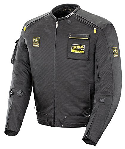 US Army Alpha-X - Mens' Textile Motorcycle Jacket - Black - XXX-Large by US Army