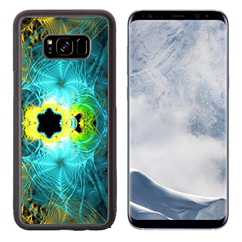 Luxlady Samsung Galaxy S8 Plus S8+ Aluminum Backplate Bumper Snap Case IMAGE ID: 43895155 Illustration of an abstract fractal background with cobwebs for Halloween -