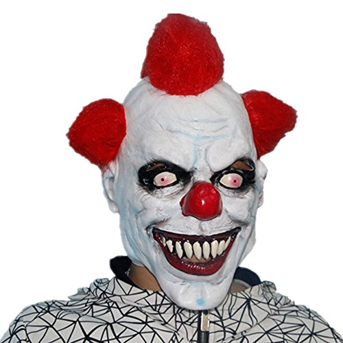 [XIAO MO GU Latex Halloween Party Cosplay Face Mask Clown Costumes Mask] (Cute Costumes For Couples)