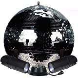 20'' Mirror Ball Complete Party Kit with 2 LED Pinspots and Motor - Adkins Professional Lighting