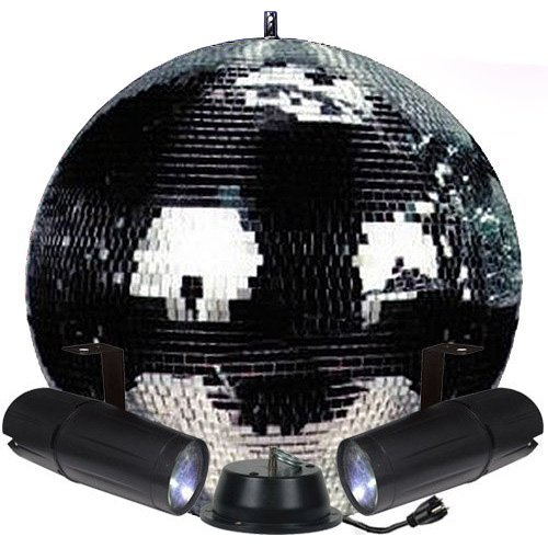 20'' Mirror Ball Complete Party Kit with 2 LED Pinspots and Motor - Adkins Professional Lighting by Adkins Professional lighting