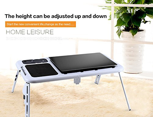 Usa free shipping portable folding laptop desk notebook for Divan overbed table