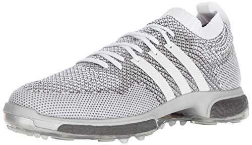 adidas Men's TOUR360 Knit Golf Shoe, FTWR White Trace Grey, 11 Medium US