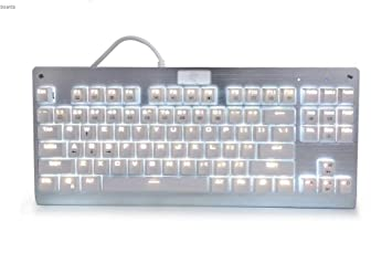 HUO JI Mecánica Eagle Z-77 Multicolor LED retroiluminada Teclado Gaming Mecánica Con DIY azul interruptores, 87 teclas Anti-Ghosting: Amazon.es: Electrónica