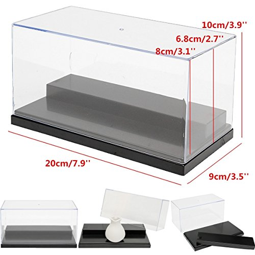 Any Display - Acrylic Display case 7.9 x 3.9 x 3.5 inches For Action Figures Toy Vinylmation lot any minifigures Fuko Lego Model Rock stone Home Display