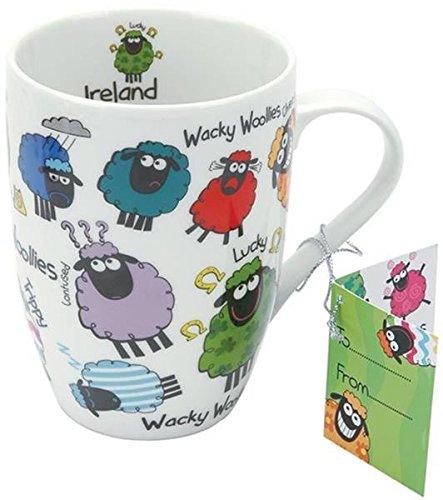 Dublin Gift 3148D Wacky Woollies Ceramic Mug One Size, Multicolor
