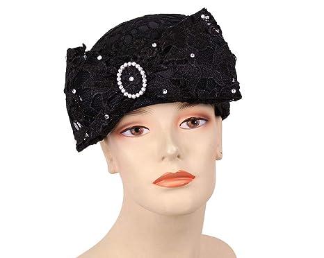 029b01cf126f3 Ms. Divine Collection Women s Church Hats - H300 (Black) at Amazon ...