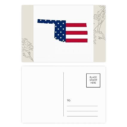 Amazon Com Oklahoma Usa Map Stars Stripes Flag Shape Flower