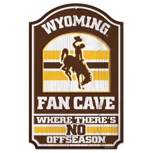 Black WinCraft NCAA University of Wyoming 84689012 Wood Sign 11 x 17