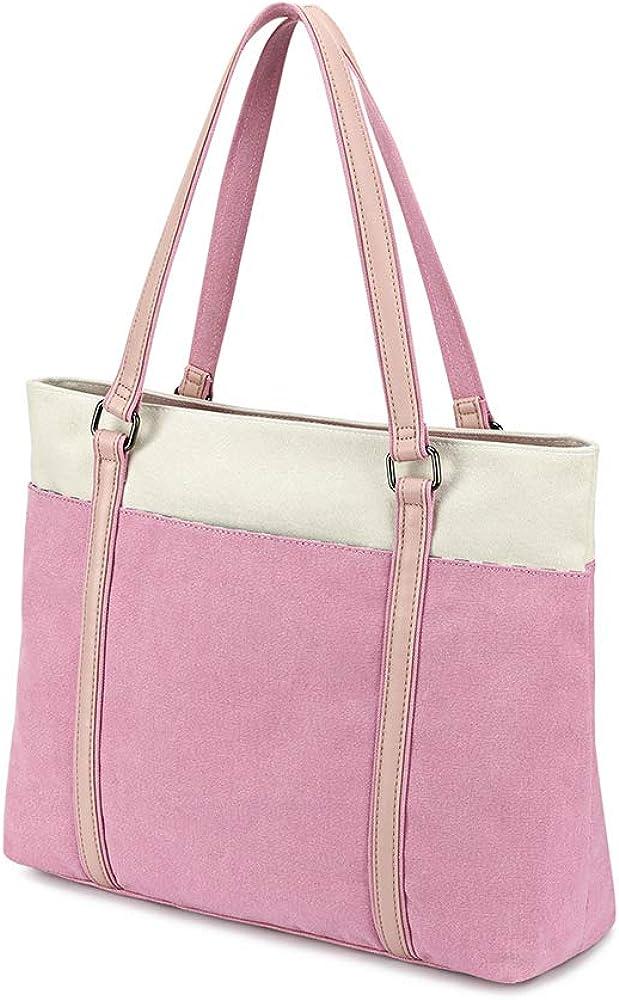 "Plambag Women's Laptop Tote Bag, Canvas 15.6"" Computer Work Office Handbag"