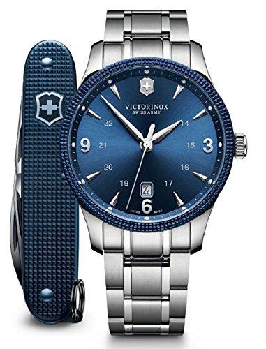 Alliance Swiss - Victorinox Swiss Army Alliance Men's Blue Dial Stainless Steel Swiss Watch - With Knife 241711.1