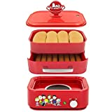 Smart Planet HDS-1S Peanuts Hot Dog Steamer, Red