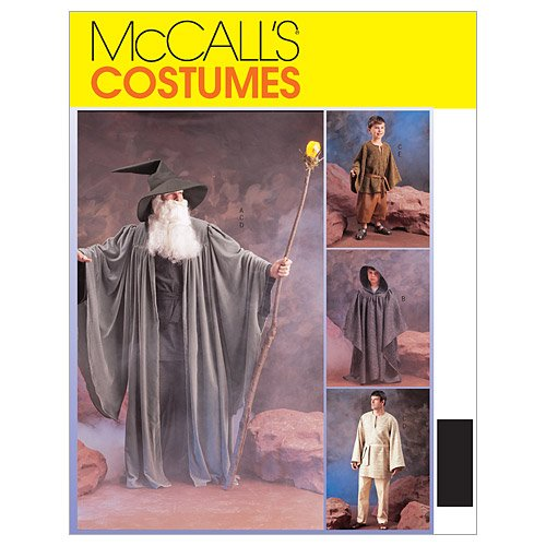 Misses Mens Teen Boys And Girls Witches And Wizards Costumes Costumes McCall's Costumes Sewing Pattern 3789 (Size Adult: (Witch Costume Patterns For Adults)