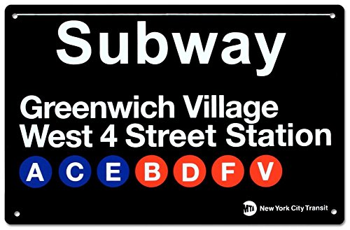 Greenwich Village Metal Subway Sign (Sign Nyc Subway/4)