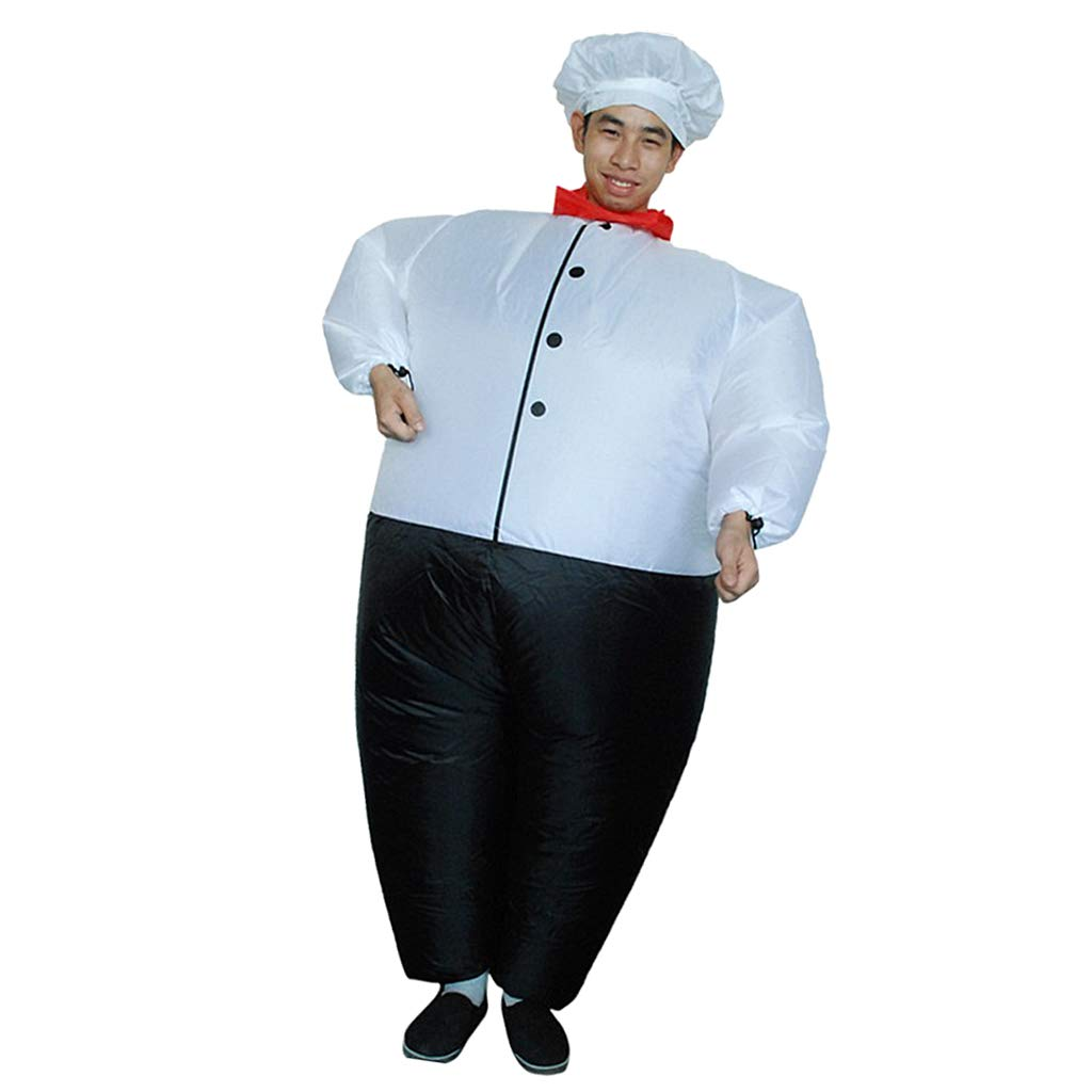 8e8a5e29e91b2 Amazon.com: Prettyia Funny Chef Inflatable Adult Costume Blowup Jumpsuit  Halloween Fancy Dress: Clothing