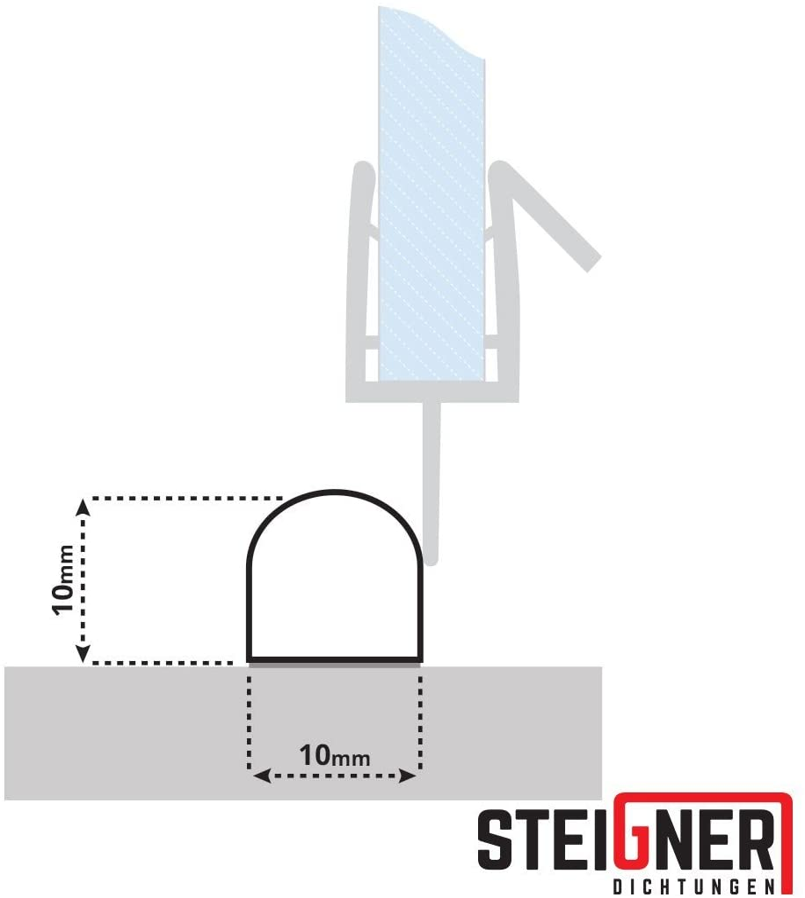 STEIGNER 70 cm Umbral de Acrílico de la Cabina de Ducha – SDD03 Altura 10 mm – Semicircular de Umbral Protección Contra la Fuga del Agua: Amazon.es: Bricolaje y herramientas