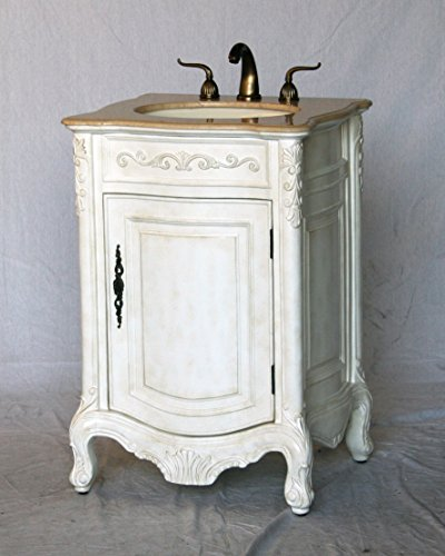 24-Inch Antique Style Single Sink Bathroom Vanity Model 2232-AW - Aw Antique Bathroom Vanity