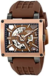Stuhrling Original Men's 257R.3346K59 Classic Wild Axis Analog Display Automatic Self Wind Brown Watch