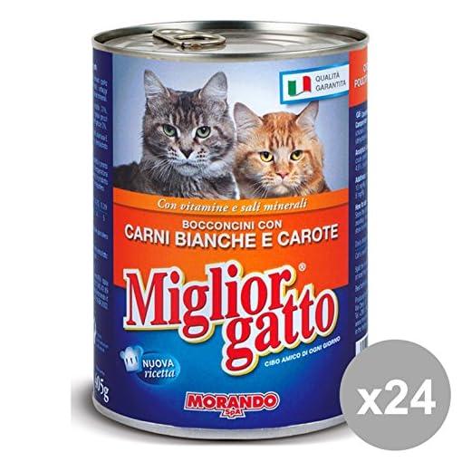 Set 24 Miglior Gatto 405 Gr Umido Bocconcini Carni Bianche Car