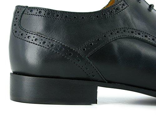 J.Bradford Zapatos Hombre De Vestir Derby Cuero Negro ROMAN