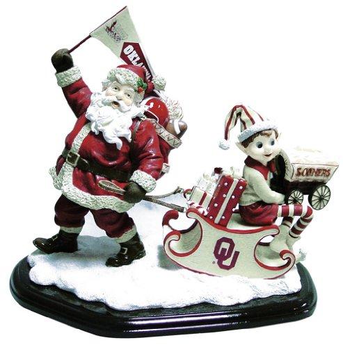 Oklahoma Sooners University Santa Tabletop Figurine ()