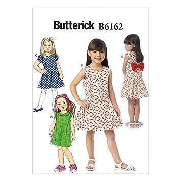 Butterick Schnittmuster Mädchen Kleid mit Schleife, 6162: Amazon.de ...