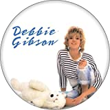 Debbie Gibson - Out of the Blue (Sitting with Teddy Bear on White) - 1.5' Round Button