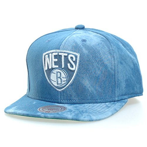 Casquette Snapback Mitchell And Ness Eu129-bronet Brooklyn Nets Bleu Imprimé Tie And Dye -