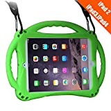 iPad 2 Case for Kids,TopEsct Shockproof Silicone Handle Stand Case Cover&(Tempered Glass Screen Protector) for Apple iPad 2nd Generation,iPad 3rd Generation,iPad 4th Generation (Green)