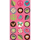 """Amscan Hippie Chick Birthday Party Favor Paper Loot Bags (8 Pack), """"10 1/16 x """"5 1/8 x """"3, Multicolor"""
