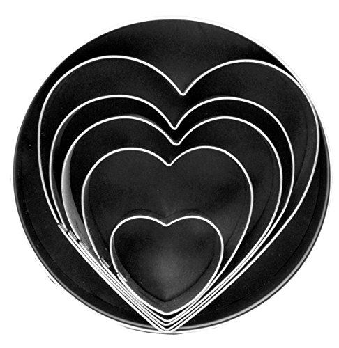 Fox Run Heart Cookie Cutter Set, 5-Piece