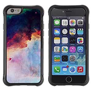 """All-Round Hybrid Rubber Case Hard Cover Protective Accessory Compatible with Apple iPhone 6PLUS ¡ê¡§5.5"""") - cosmos space nebula inspiring"""