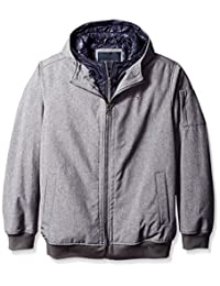 Tommy Hilfiger mens tall Tall Soft Shell Fashion Bomber With Contrast Bib and Hood