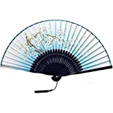 Oriental Vintage Style Folding Fan Hand Fan Foldable Handheld Fan Summer Perfect Gift, M