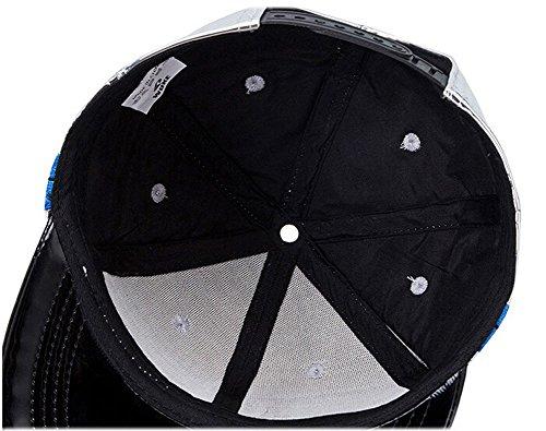 WUKE Bright PU Leather Snapback Cap Hip-Hop Baseball Cap