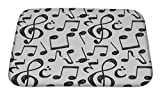 """Gear New Music Note Bath Mat, Microfiber, Foam With Non Skid Backing, 24""""x17"""", GN6971"""