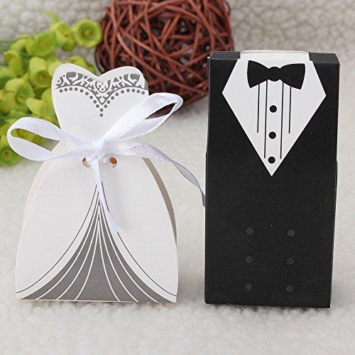 IGBBLOVE 100Pcs Wedding Tuxedo Favor product image