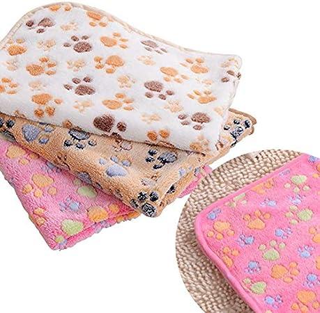 Fovien 1 Pcs Pet Blanket Dog Cat Mat Dog Blanket Coral Fleece Rabbit Thickened Warm Flannel Blanket Suitable for Family Pets Teddy Dog Quilt 76cm*52cm