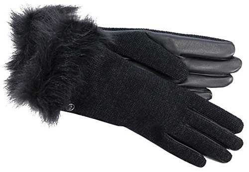 UGG Women's Smart Fabric Gloves w/ Toscana Trim Black Multi SM