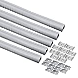 uxcell 5Pcs CN-612 0.5m 25mmx15mm LED Aluminum Channel System for LED Strip Light Installations