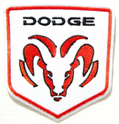 DODGE RAM Logo Sign Nos Car Racing Patch Iron on Applique Embroidered T shirt Jacket BY SURAPAN