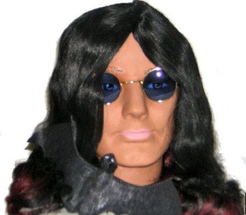Ozzy Osbourne! Fancy Dress Wig, Glasses, FREE - Ozzy Rims