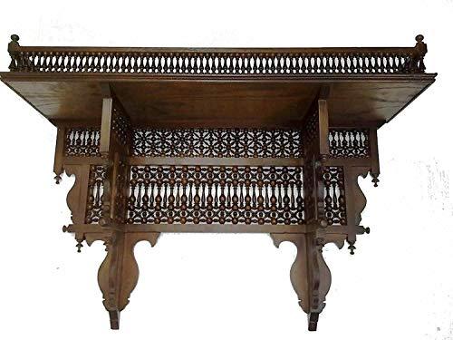 W123 Antique Style Handmade Arabian Wall Wood Arabesque Shelf ()
