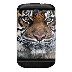 JohnMiss Snap On Hard Case Cover Tiger Protector For Galaxy S3