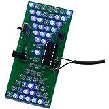 Icstation Hourglass Shape LED Flashing Lights Kits DIY Electronics Soldering Practice Set