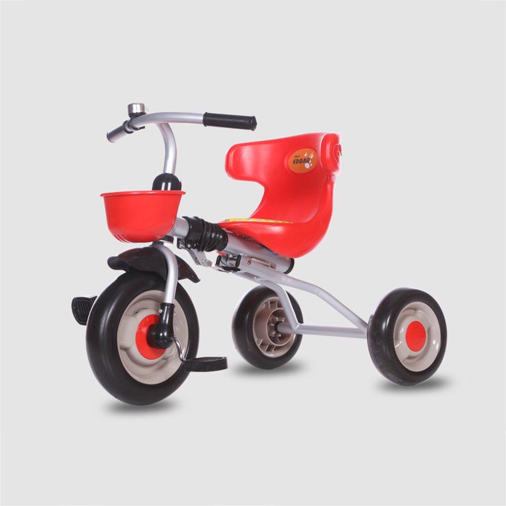 HAIZHEN マウンテンバイク スマートなデザインの子供たちの子供の折り畳み三輪車の三輪車の乗り物2-5歳 新生児 B07C6WQCS1 赤 赤