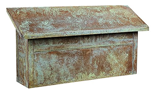 Arroyo Craftsman MMBL-VP Mission Horizontal Mail Box, Verdigris Patina Metal Finish (Wall Verdigris Finish)